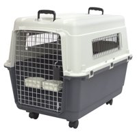 Kennels Direct Premium Plastic Dog Kennel and Travel Pet Crate, Large