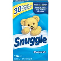 (3 pack) Snuggle Fabric Softener Sheets, Blue Sparkle, 120 Count