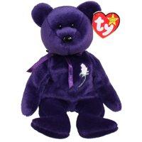 TY Beanie Baby - PRINCESS the Purple Bear (PE Version - 1997) (8.5 inch)