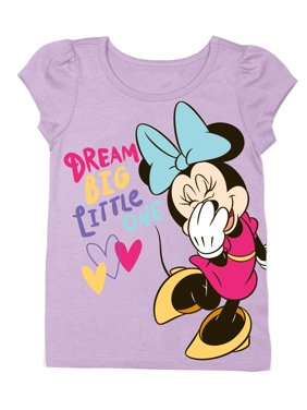 """Dream Big Little One"" Short Sleeve Graphic Tshirt (Toddler Girls)"