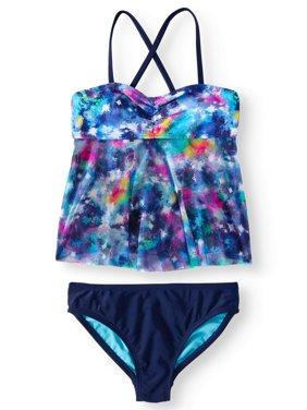 Girls' Galaxy Tankini Swimsuit