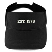 1382736ff896c Trendy Apparel Shop 1978 Embroidered - 40th Birthday Gift Summer Adjustable  Visor