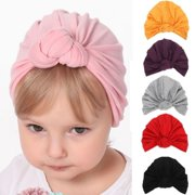 846ff0b2b97 Cute Baby Girls Boys Bow Turban Hat Toddler Kids Head Wrap Headband Cap