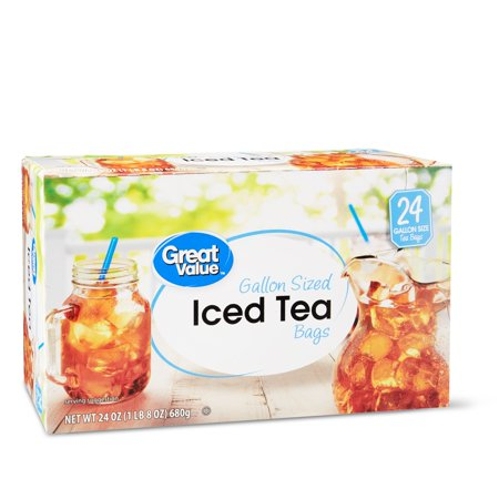 Great Value Iced Tea Bags, Gallon Sized, 24 oz, 24 Count