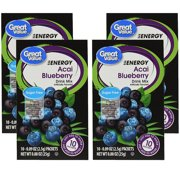(12 Pack) Great Value Energy Drink Mix, Acai Blueberry, Sugar-Free, 0.88 oz, 10 Count
