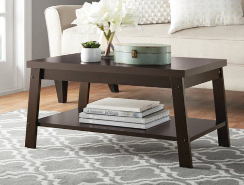 Mainstays Logan Coffee Table, Espresso Finishes