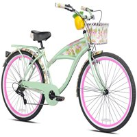 "Margaritaville 26"" Women's, Multi-Speed Cruiser Bike, Green"