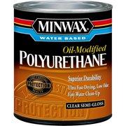 Minwax Water-Based, Oil-Modified Polyurethane Finish, 1 Qt, Semi-Gloss