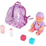 "My Sweet Love 10.5"" 6-piece Baby Doll with Backpack and Accessories Play Set"