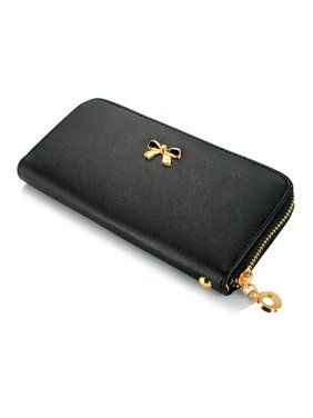 Product Image New Fashion Lady Bow-Tie Zipper Around Women Clutch Leather Long Wallet Card Holder Case