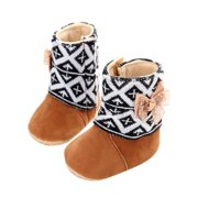 Baby Toddler Infant Girl Snow Boots Soft Sole prewalker Crib Shoes