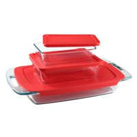 Pyrex Easy Grab Bake 'n Store Glass Storage Set Value Pack, 6 Piece