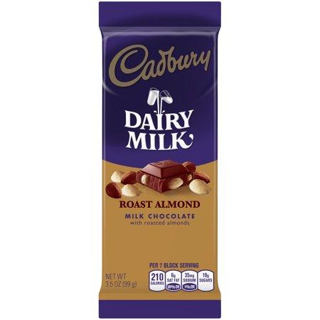 Cadbury Dairy Milk Roast Almond Milk Chocolate Bar, 3.5 Oz. Dairy Milk Chocolate Bar