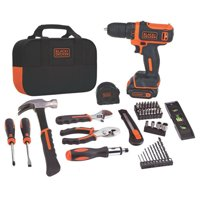 BLACK+DECKER 12-Volt MAX* Lithium Drill And 59-Piece Project Kit, BDCDD12PK