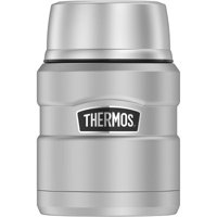Thermos 16oz Stainless King Food Jar with Spoon (Stainless Steel)