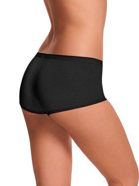 Womens ComfortSoft Waistband Boyshort Panties 3-Pack