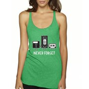 7c61289d0987f New Way 467 - Women s Tank-Top Floppy Disk VHS Tape Cassette Player Never  Forget