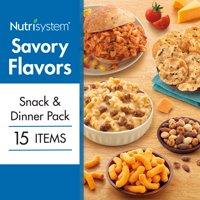 Nutrisystem Savory Flavors Snack & Dinner Pack, 15 Ct
