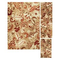 Better Homes and Gardens Paisley 3-Piece Area Rug Set, Multiple Colors