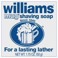 (3 pack) Williams Mug Shaving Soap, For a Lasting Lather that Leaves Skin Soft and Smooth, 1.75 Ounce Bar