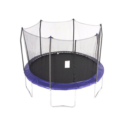 Skywalker Trampolines 12-Foot Trampoline, with Safety Enclosure, (Best Trampoline Basketball Hoop)