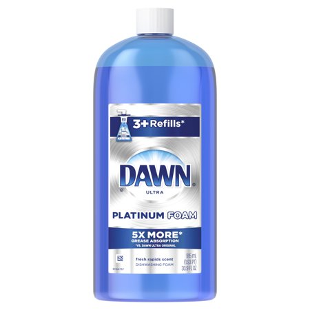 Delicate Dish (Dawn Ultra Platinum Foam Dishwashing Foam, Fresh Rapids Scent, 30.9 fl oz )