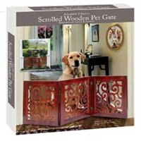 3-section Adjustable and Scrolled Wooden Pet Gate