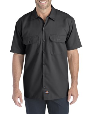Big Men's Short Sleeve Flex Twill Shirt