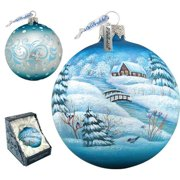 G Debrekht Winter Village Ball Ornament