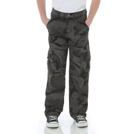 Boys Camouflage Pants (Wrangler Boys' Classic Cargo Twill Pant)