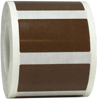 Brown Rectangle Stickers, 0.75 x 1.5 Inches Wide, 500 Labels on a Roll