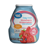 (10 Pack) Great Value Simply Clear Drink Enhancer, Strawberry Watermelon, 1.62 fl oz