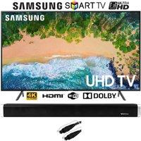 "Samsung UN65NU7100 (UN65NU7100FXZA) 65"" NU7100 Smart 4K UHD TV (2018) with Vivitar 24-Inch Wall Mountable Wireless Bluetooth Soundbar"