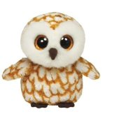 4ab99e62aee Ty Swoops the Brown   White Barn Snow Owl Beanie Boos Stuffed Plush Toy