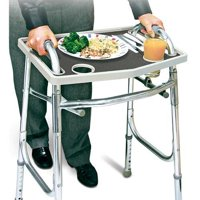 North American Health + Wellness Walker Tray With Non-Slip Grip Mat