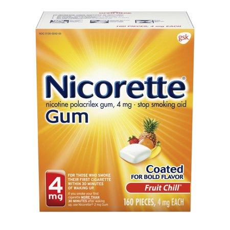 Nicorette Nicotine Gum to Stop Smoking, 4 mg, Fruit Chill, 160 (Stop Smoking Nicotine)