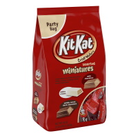 (3 Pack) Kit Kat, Crisp Wafer Milk Chocolate Candy Bars Miniatures, 36 Oz