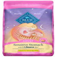 Blue Buffalo Sensitive Stomach All Breeds Adult Dry Cat Food, Chicken & Brown Rice Recipe, 15-lb