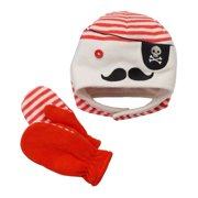 5f95014eae9f2 Jumping Beans Infant   Toddler Boys Fleece Pirate Hat   Mittens Set ...