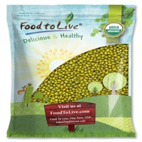 Organic Mung Beans, 5 Pounds - Kosher, Non-GMO, Raw, Sproutable, Vegan, Bulk - by Food to Live