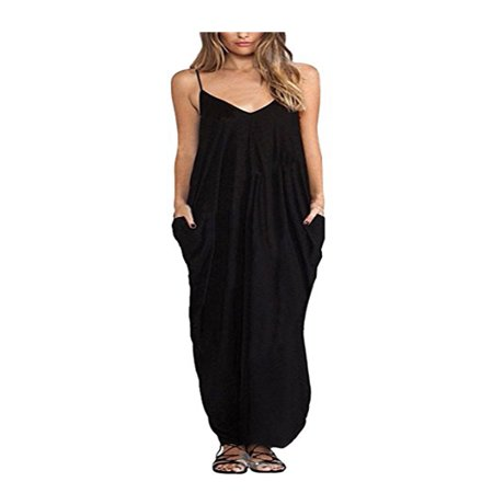 Sleeveless Sexy Boho Long Maxi Dress Ladies Womens Summer Beach Party Sundress