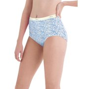 Women's Cotton No Ride Up Assorted Dyed Briefs 6-Pack