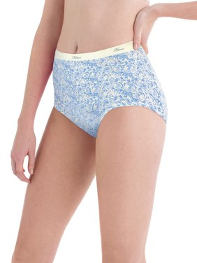 Women's Cotton No Ride Up Assorted Dyed Brief Panties - 6 Pack