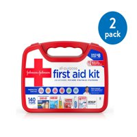 Johnson & Johnson All-Purpose Portable First Aid Kit, 140 pc