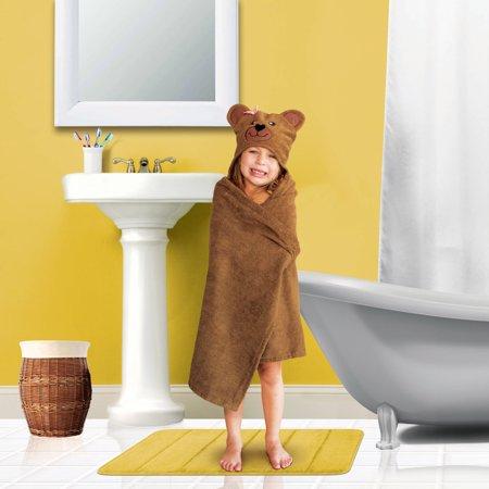 Mainstays Kid's Hooded Bath Towel in Brown Bear](Hooded Towel Kids)