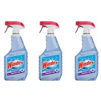 (3 pack) Windex Ammonia-Free Glass Cleaner Trigger Bottle, Crystal Rain, 23 fl oz