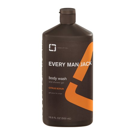Every Man Jack Body Scrub And Shower Gel Citrus, 16.9 FL OZ