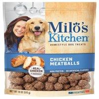 Milo's Kitchen Chicken Meatballs Dog Treats, 18-Ounce