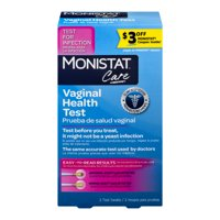 Monistat Care Vaginal Health Test pH Test for Infection, 2 Swabs