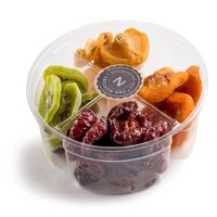 The Nuttery Dried Fruit Mix Gift Set- Healthy Snack 4 Sectional Gift Basket- Gourmet Dried Fruit Gift Tray
